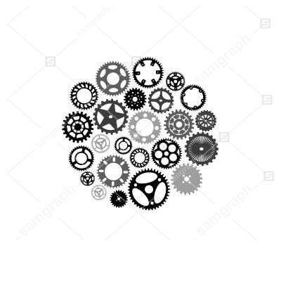 دانلود فایل وکتور انواع چرخ دنده - بصورت خطی