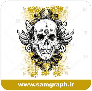 دانلود لوگو وکتور اسکلت DOWNLOAD Skull VECTOR