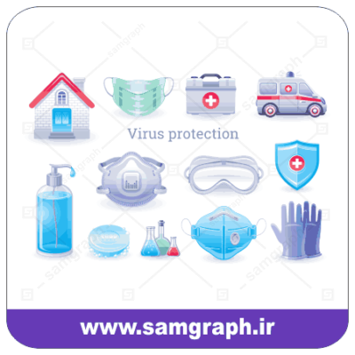 انلود طرح وکتور وسایل بهداشتی مقاله با کرونا ویروس - Download the article Sanitary Ware Vector Design with Corona Virus