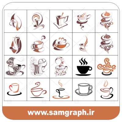دانلود طرح وکتور لیوان قهوه - Download cup of coffee Vector