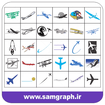 دانلود پک لوگو وکتور و ایکون های هواپیما -pack Download Airplane icon and Vector