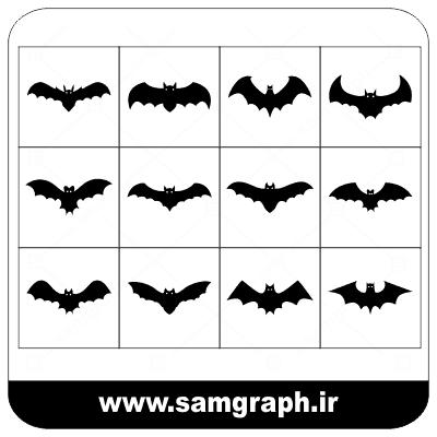 دانلود طرح وکتور خفاش در مدل های مختلف - DOWNLOAD BAT VECTOR