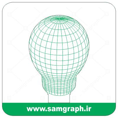 دانلود طرح وکتور لامپ سه بعدی بالبینگ - Download 3D LAMP balbing Vector Design