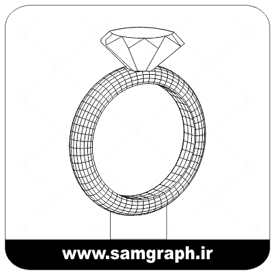 دانلود طرح وکتور انگشتر سه بعدی بالبینگ - Download 3D Ring balbing Vector Design