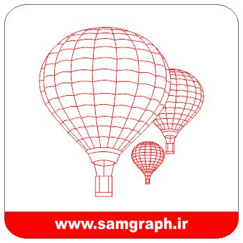 دانلود طرح وکتور بالن سه بعدی - Download 3D Balloon Vector Design