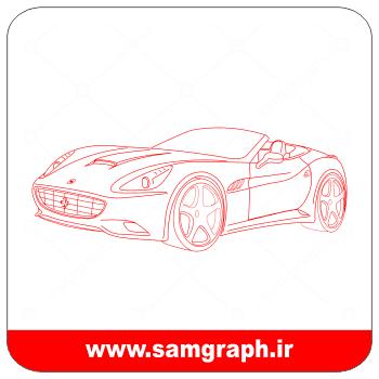 دانلود طرح وکتور ماشین فراری سه بعدی بالبینگ 3 - 3 Download 3D CAR balbing Vector Design