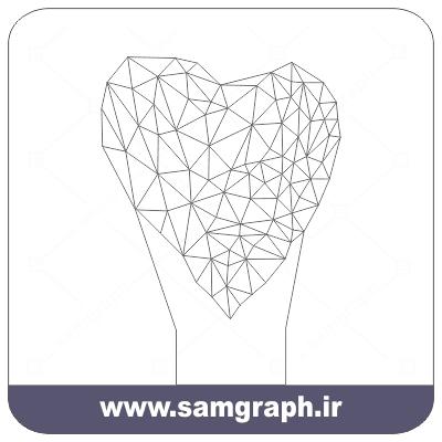 دانلود طرح وکتور قلب سه بعدی بالبینگ - Download 3D Giraffe balbing Vector Design