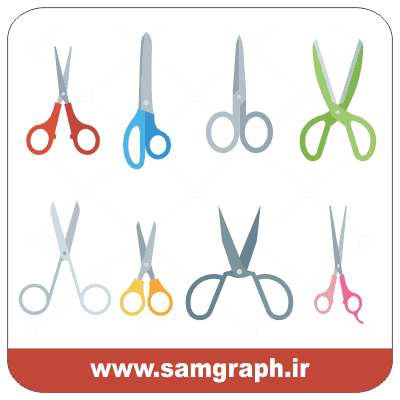 دانلود طرح وکتور قیچی آرایشگاه - Download Hairdressing Scissors Vector