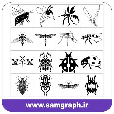 دانلود لوگو وکتور حشرات - download vector logo Insects