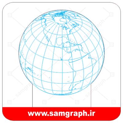 دانلود طرح وکتور کره زمین سه بعدی بالبینگ - Download 3D Planet Earth balbing Vector Design