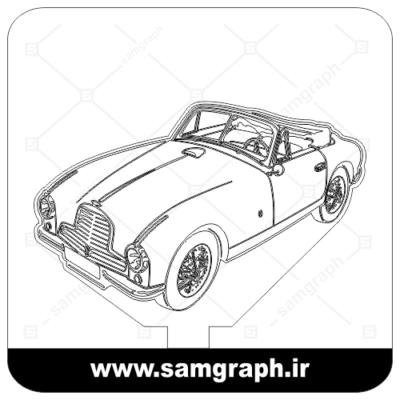 دانلود طرح وکتور باب ماشین قدیمی سه بعدی بالبینگ - Download 3D old car balbing Vector Design