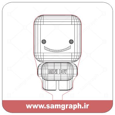 دانلود طرح وکتور باب پسر کوچولو سه بعدی بالبینگ - Download 3D mini boy balbing Vector Design