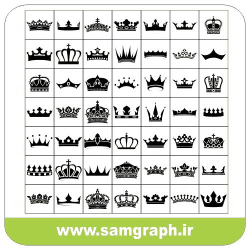 دانلود طرح وکتور پک انواع تاج - Download Vector Design Pack Types Of Crowns