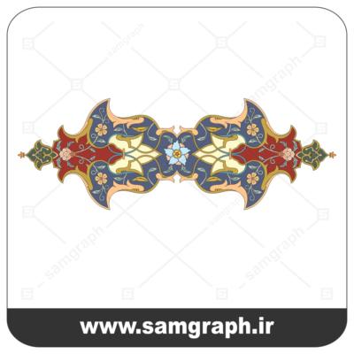 وکتور اسلیمی کادر و حاشیه 2- Eslimi vector