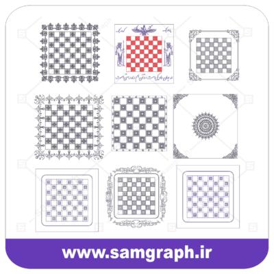 وکتور زمین شطرنج لاکچری -Chess pitch VECTOR