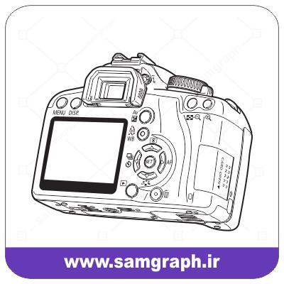 وکتور دوربین سه بعدی - 3D camera vector