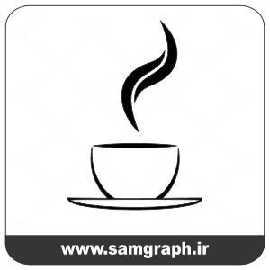 وکتور رایگان فنجان قهوه