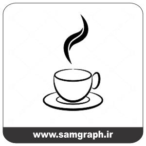 وکتور رایگان فنجان چای گرم - Vector Hot tea free