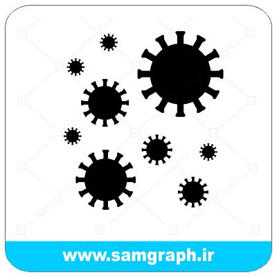 وکتور تصویر ویروس کرونا - Corona virus vector image