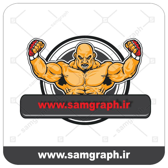 وکتور لوگو باشگاه بدنسازی - ورزش - box - UFC