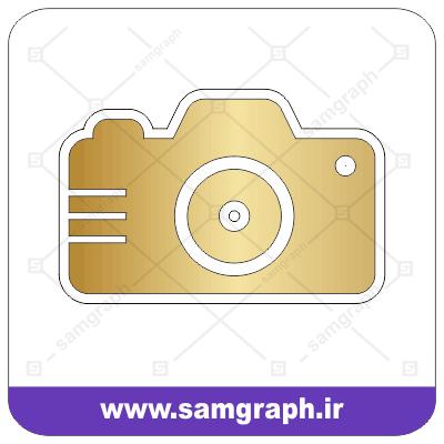 وکتور لوگو دوربین عکاسی - photo camera