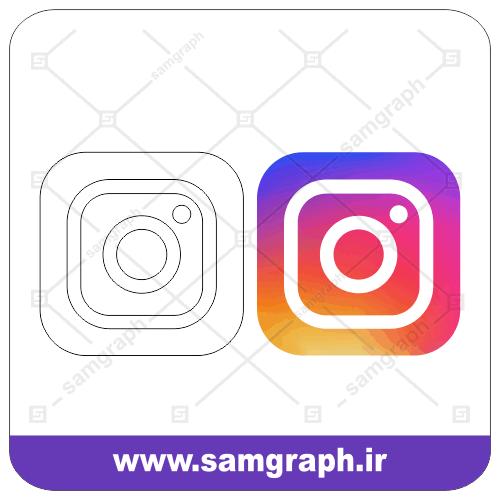 وکتور لوگو آیکون اینستاگرام - instagram