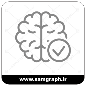 وکتور دو نیم کره مغز - Vector of two hemispheres of the brain