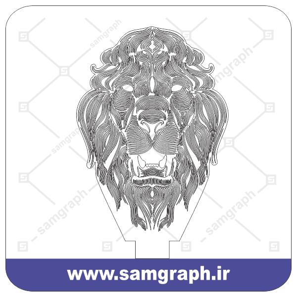 طرح وکتور شیر 3D بالبینگ - Download 3D Lion balbing Vector