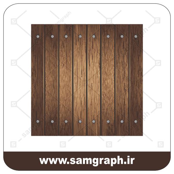 وکتور طرح چوب - Wood design vector