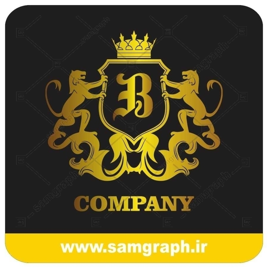 لوگو آماده لاکچری حرف B لاتین - Logo Luxury Sample