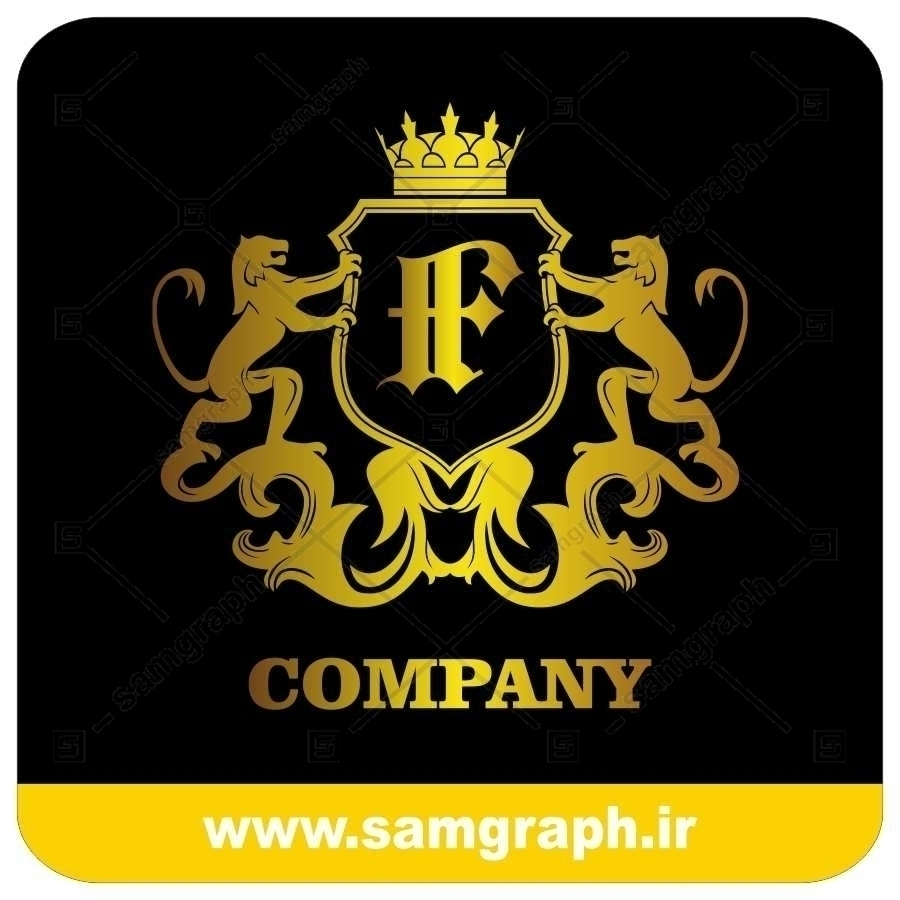 لوگو آماده لاکچری حرف F لاتین - Logo Luxury Sample