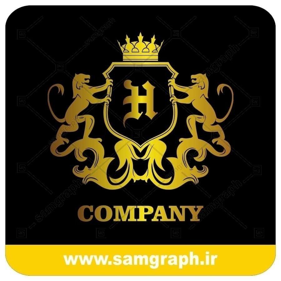 لوگو آماده لاکچری حرف H لاتین - Logo Luxury Sample