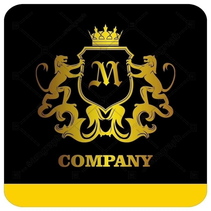 لوگو آماده لاکچری حرف M لاتین - Logo Luxury Sample