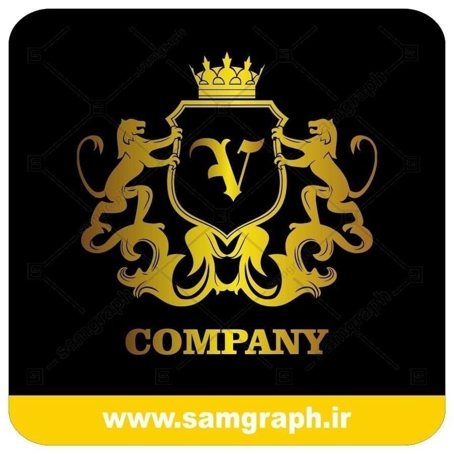 لوگو آماده لاکچری حرف V لاتین - Logo Luxury Sample