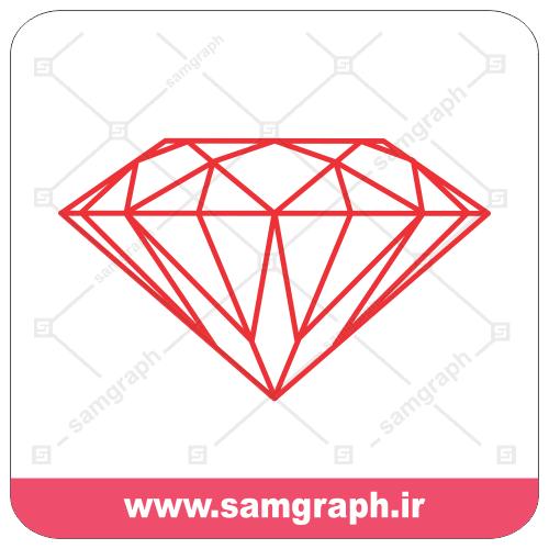 دانلود وکتور الماس - دیاموند - خطی - Download diamond line