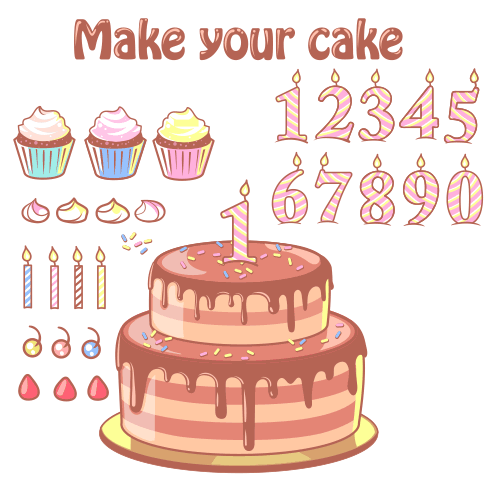 Caketo dorst kon ba ina cup cake shame va tazinat vector file 1