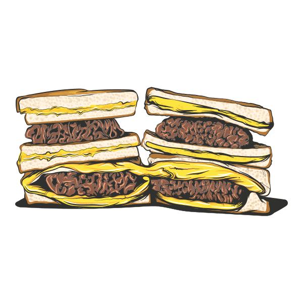 Hamburger Sandwich nesf goshy ba panir pitazza vector file 1