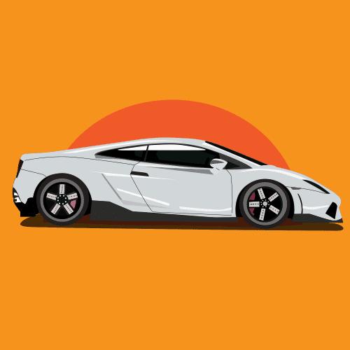 Lamborghini car mashin khorshid dar ofogh vector file 1