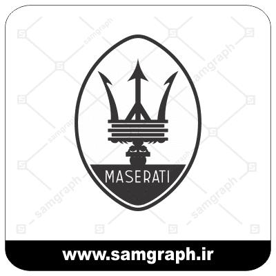 وکتور لوگو و آرم برند خودروسازی مازراتی - vector maserati logo car