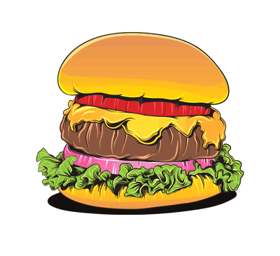 hamburger non bereshte va mokhalafat vector 1