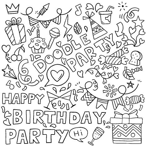 happy birthday greeting card fantezi party vector file22 a 1