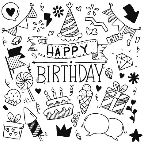 happy birthday greeting card fantezi party vector fun file8a 1