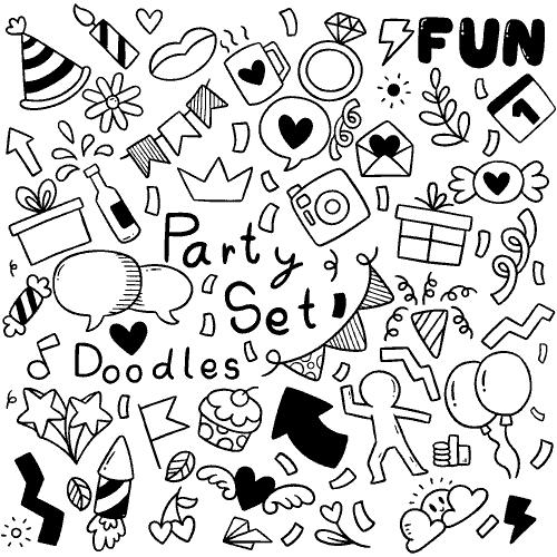happy birthday greeting card fantezi party vector fun file99 1