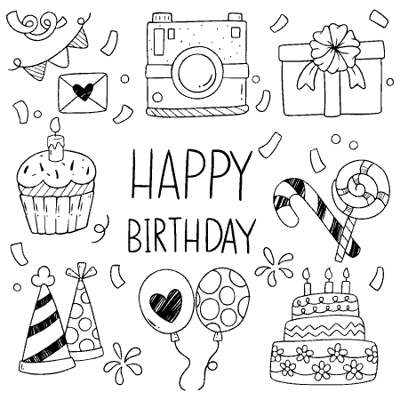 happy birthday greeting card fantezi vector file3 1