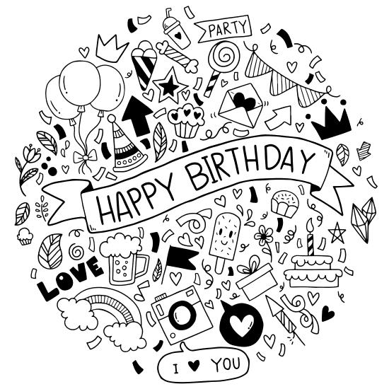 happy birthday greeting card fantezi vector party love badkonak file17 1