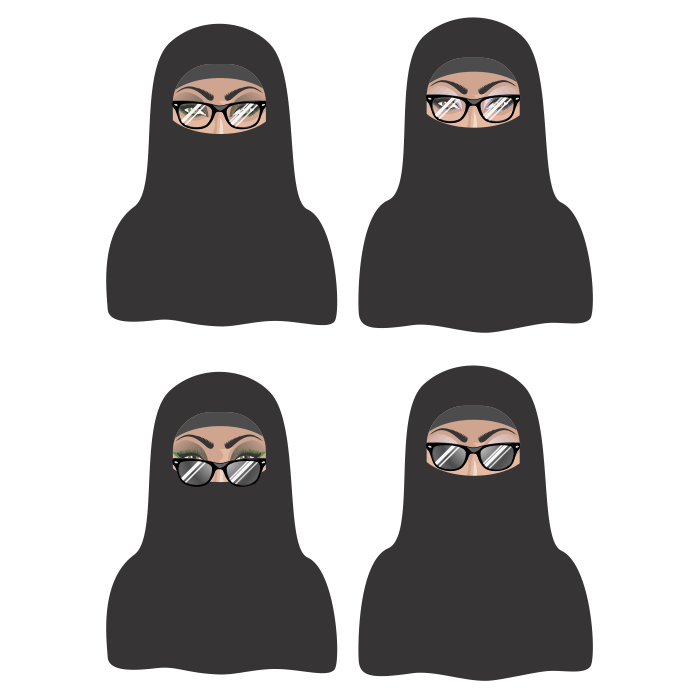 hejab woman chador eynak eslami vector 1