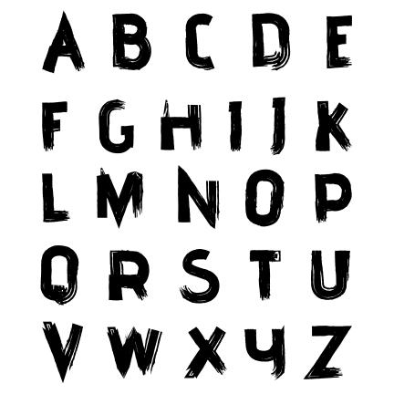 horof engilish a z vector font dark 1