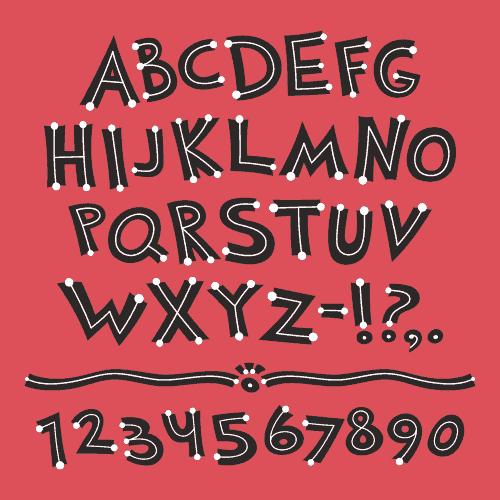 horof engilish a z vector latin font number 1