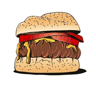 humburger fastfood sandwich vector 1