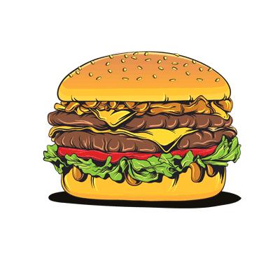 humburger non konjedi fast food Design vector 1